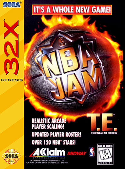 NBA Jam TE 32X Cover Art